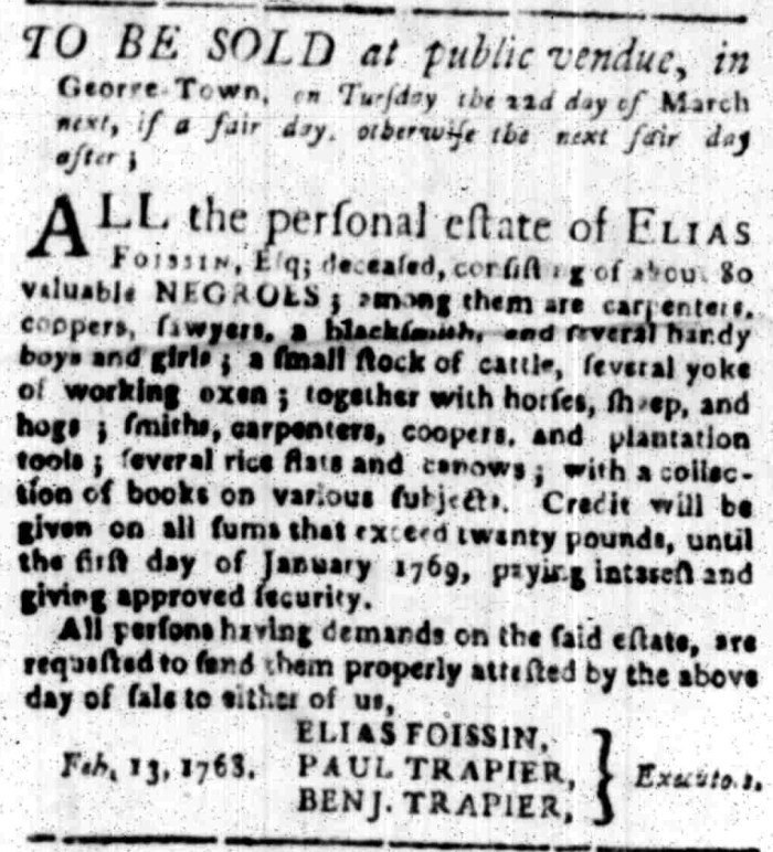 Mar 14 - South Carolina Gazette Slavery 9