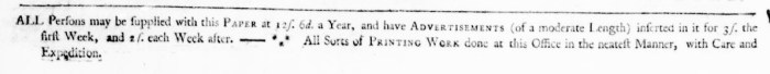 Mar 20 - 3:17:1768 Virginia Gazette Purdie and Dixon