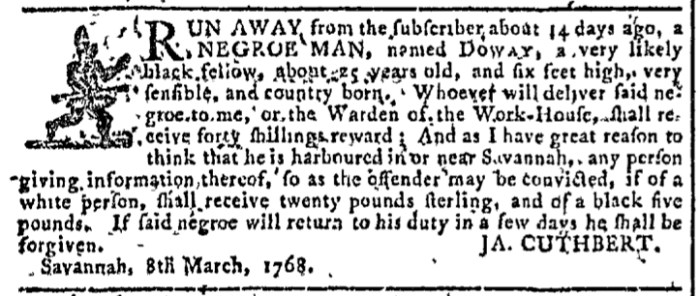 Mar 23 - Georgia Gazette Slavery 6