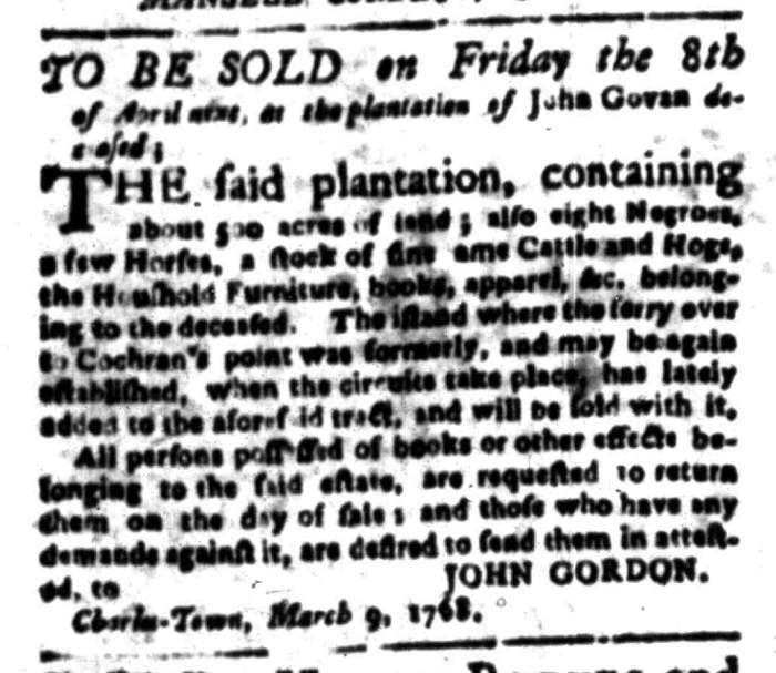Mar 28 - South Carolina Gazette Slavery 6