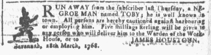 Mar 30 - Georgia Gazette Slavery 1