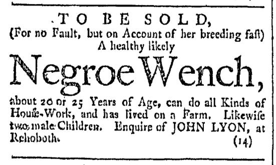 Mar 5 - Providence Gazette Slavery 1