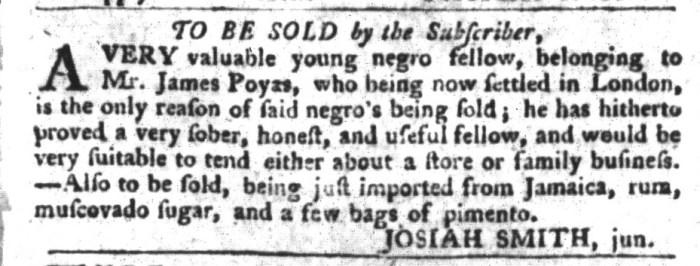 Mar 8 - South-Carolina Gazette and Country Journal Supplement Slavery 2