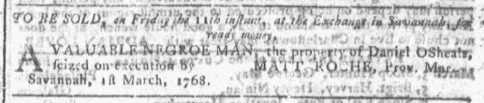 Mar 9 - Georgia Gazette Slavery 4