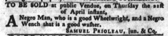 Apr 12 - South-Carolina Gazette and Country Journal Slavery 5