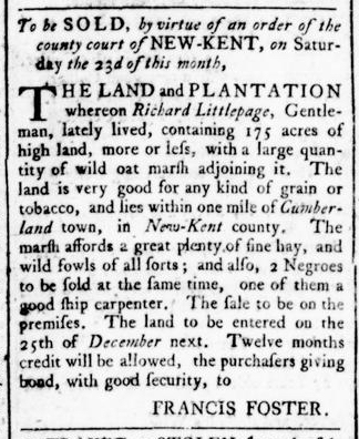 Apr 14 - Virginia Gazette Rind Slavery 2