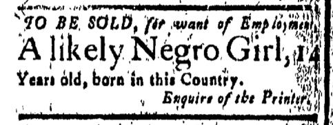 Apr 15 - New-London Gazette Slavery 1