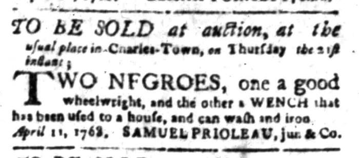 Apr 18 - South Carolina Gazette Slavery 9