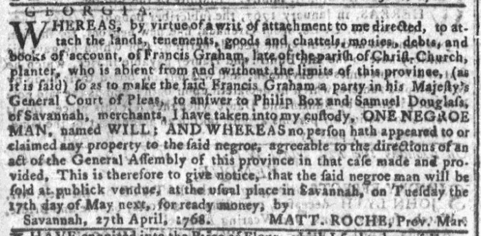 Apr 27 - Georgia Gazette Slavery 2