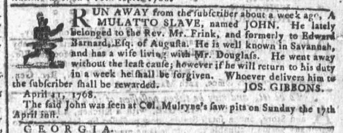 Apr 27 - Georgia Gazette Slavery 7