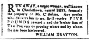 Apr 29 - South-Carolina and American General Gazette Slavery 10