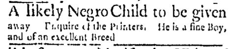 May 2 - Boston Evening-Post Supplement Slavery 2