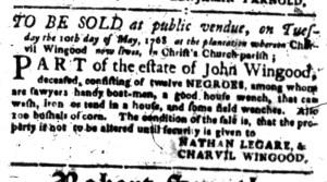 May 2 - South-Carolina Gazette Slavery 7