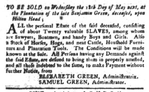 May 3 - South-Carolina Gazette and Country Journal Slavery 3