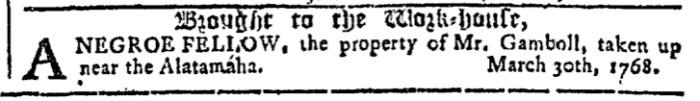May 4 - Georgia Gazette Slavery 4