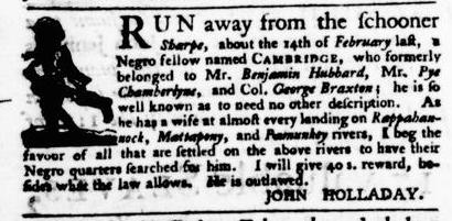 May 5 - Virginia Gazette Puride and Dixon Slavery 5