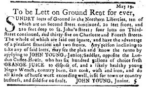 Jun 2 - Pennsylvania Journal Supplement Slavery 1