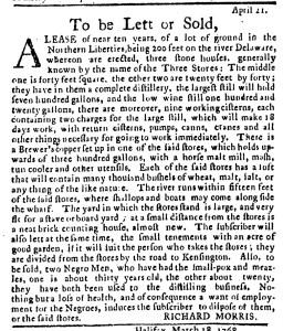 Jun 2 - Pennsylvania Journal Supplement Slavery 2