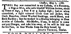May 12 - Pennsylvania Gazette Slavery 1