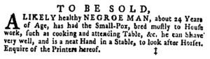 May 12 - Pennsylvania Gazette Supplement Slavery 3