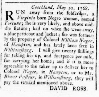 May 12 - Virginia Gazette Rind Slavery 2