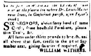 May 13 - South-Carolina and American General Gazette Slavery 6