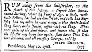 May 14 - Providence Gazette Slavery 2