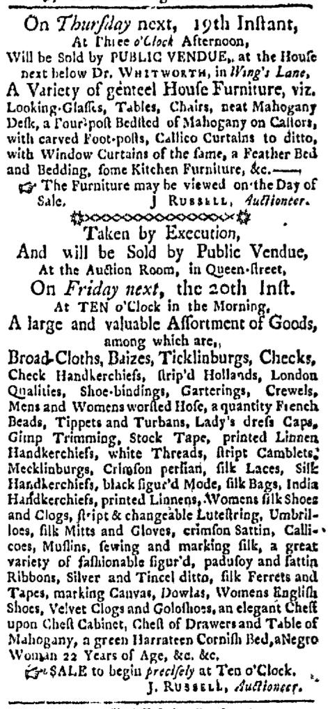 May 16 - Boston Evening-Post Slavery 1