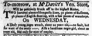 May 16 - New-York Gazette Weekly Mercury Slavery 1