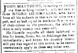 May 20 - South-Carolina and American General Gazette Slavery 6