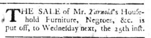 May 23 - South Carolina Gazette Slavery 1
