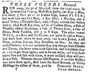 May 26 - Pennsylvania Gazette Slavery 1