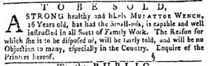 May 26 - Pennsylvania Gazette Slavery 2