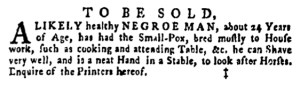 May 26 - Pennsylvania Gazette Supplement Slavery 2