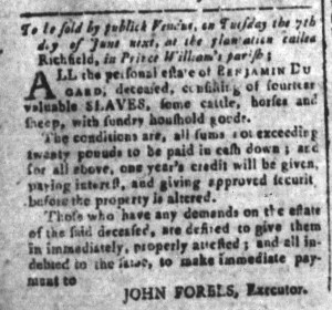 May 27 - South-Carolina and American General Gazette Slavery 8