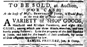 May 30 - South Carolina Gazette Slavery 2