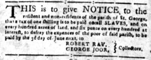 May 9 - South-Carolina Gazette Slavery 4