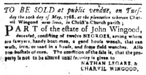 May 9 - South-Carolina Gazette Slavery 5
