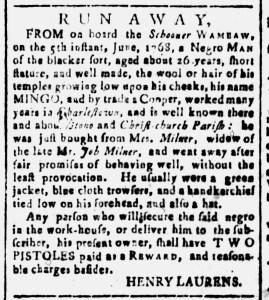 Jul 1 - South Carolina and American General Gazette Slavery 4