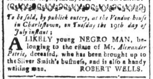 Jul 1 - South Carolina and American General Gazette Slavery 5