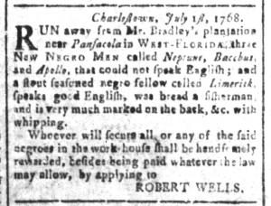 Jul 1 - South Carolina and American General Gazette Slavery 6