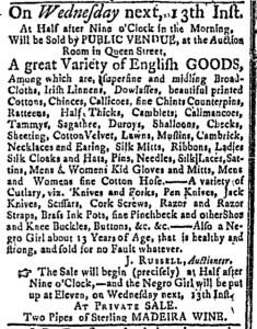 Jul 11 - Massachusetts Gazette Green and Russell Slavery 1
