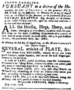 Jul 11 - South-Carolina Gazette Slavery 1