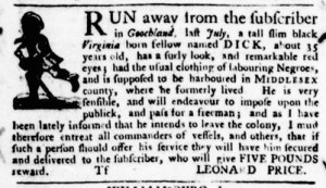 Jul 14 - Virginia Gazette Purdie and Dixon Slavery 3