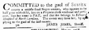 Jul 14 - Virginia Gazette Purdie and Dixon Slavery 5
