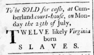 Jul 14 - Virginia Gazette Rind Slavery 3