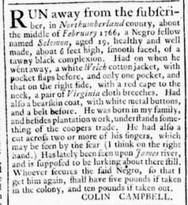 Jul 14 - Virginia Gazette Rind Slavery 4