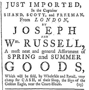 Jul 2 - 7:2:1768 Providence Gazette