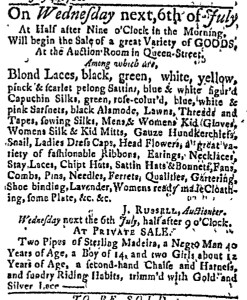 Jul 4 - Massachusetts Gazette Green and Russell Slavery 1