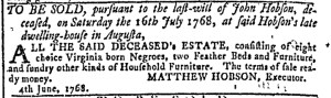 Jul 6 - Georgia Gazette Slavery 6